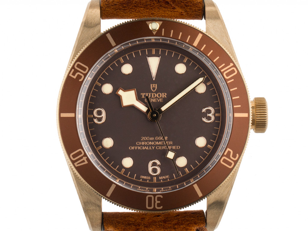 Tudor Heritage Black Bay Bronze Stahl Automatik Armband Leder 43mm Ungetragen Neuheit mit Zertifikat über 3.730,-€