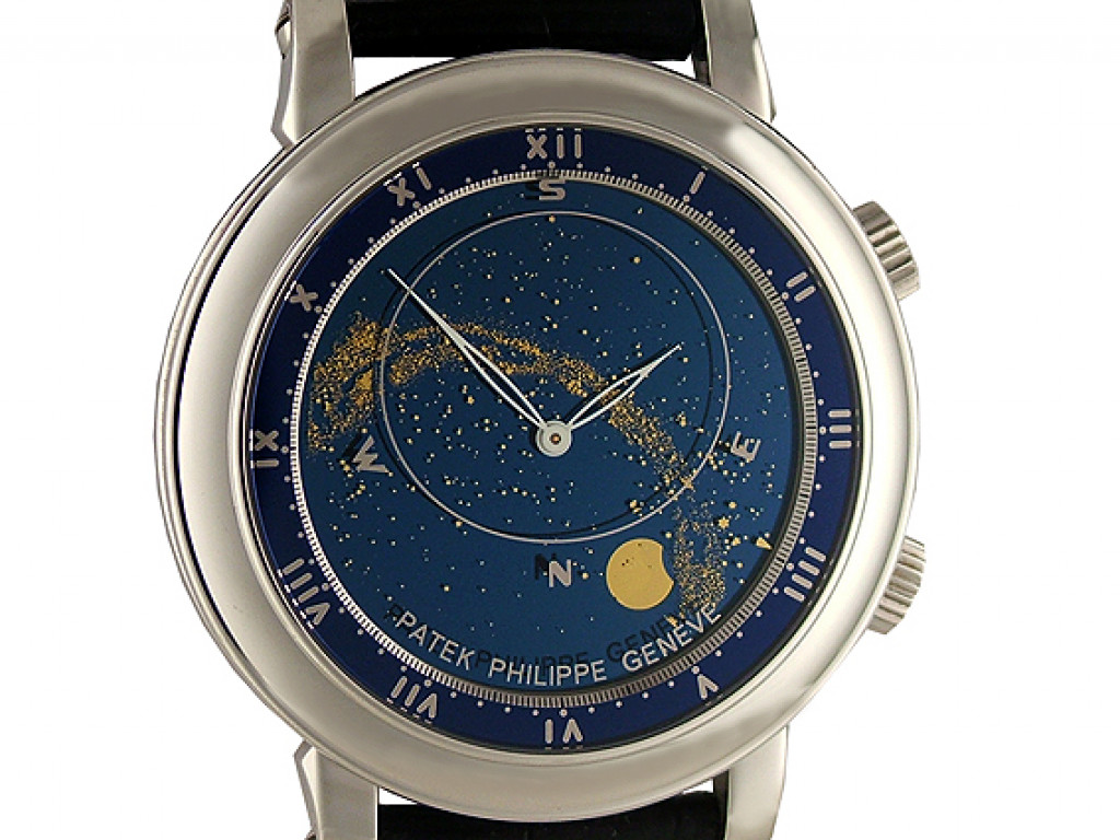 Patek Philippe Sky Moon Moscow 18kt Weißgold im Set inkl. Manschettenknöpfe Ref. 5102G-011 Limitiert 43mm wie Neu