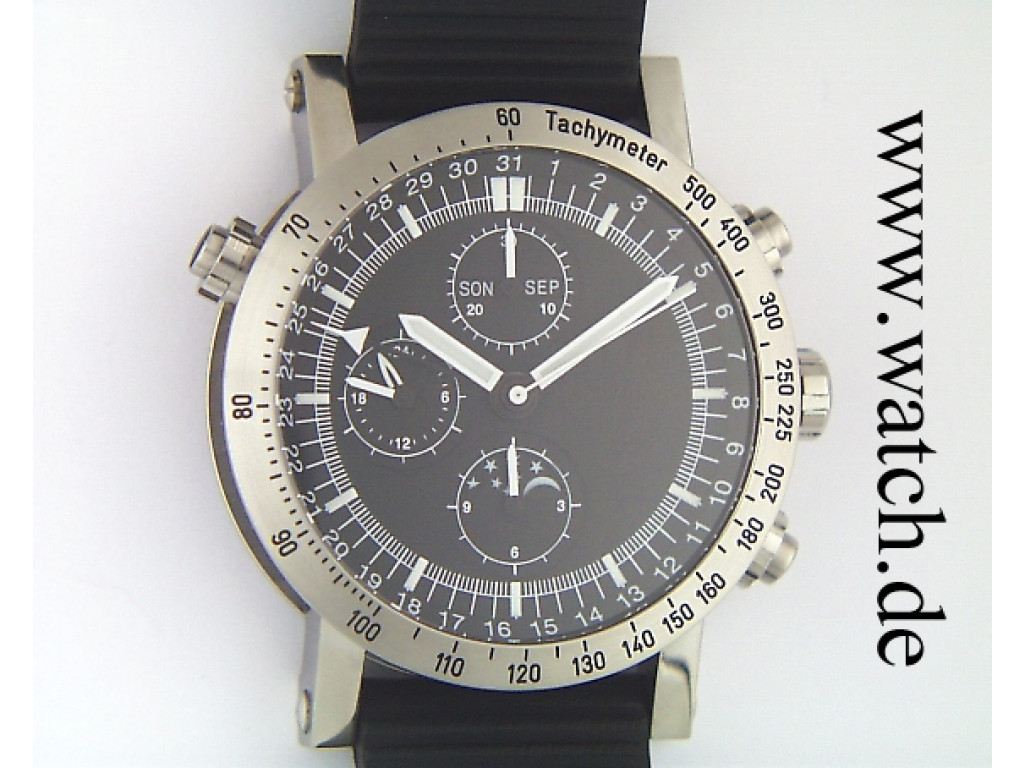 Chronograph mit Komplikation ( Vollkalender - Mondphase )