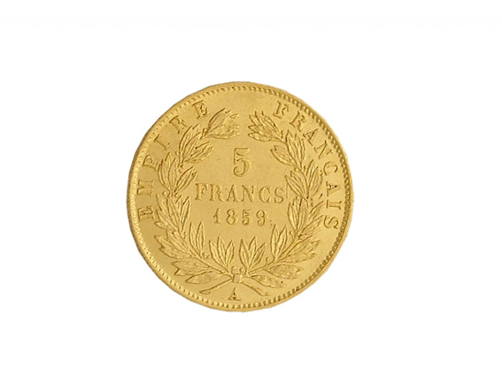 Münze 5 Francs 1855 Empire Francaise Napoleon Ii Empereur 999